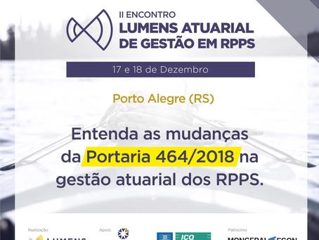 II ENCONTRO LUMENS ATUARIAL DE GESTÃO EM RPPS