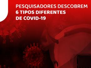 Pesquisadores descobrem 6 tipos diferentes de COVID-19