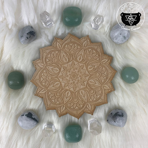 Mandala Wooden Grid - Blossom