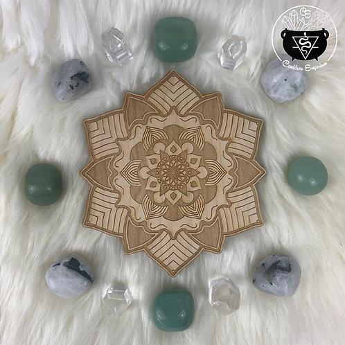 Mandala Wooden Grid - Blooming