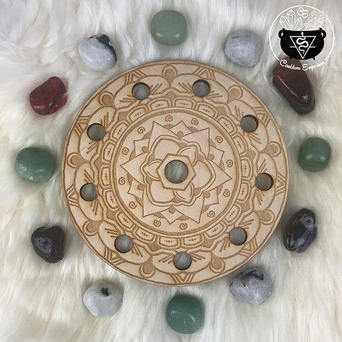 Mandala Wooden Grid - Lotus 10 Spheres