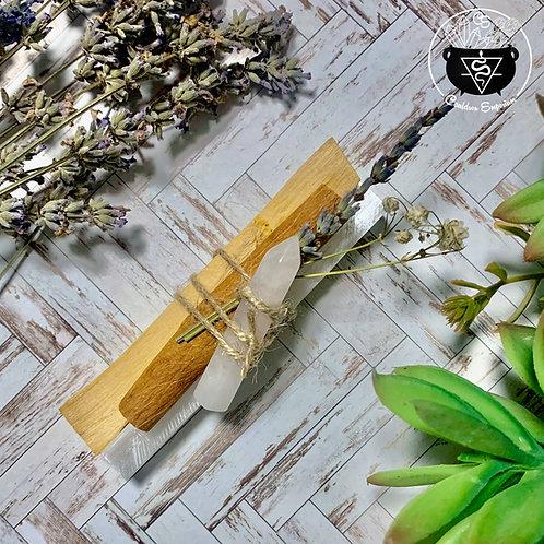 Palo Santo & Selenite Bundle (Rose Quartz)