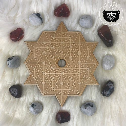 Tetrahedron Wooden Grid - Center Sphere