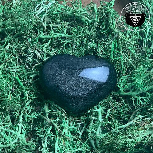 Silver Sheen Obsidian Heart
