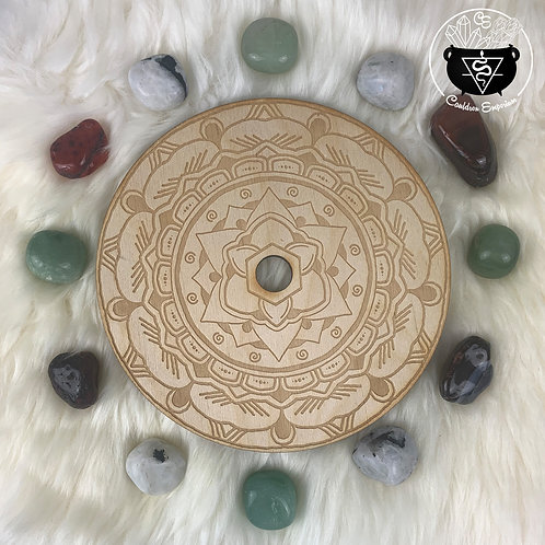 Mandala Wooden Grid - Lotus Center Sphere