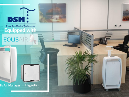 DSM Technology is Now Equipped with Eolisair's Professional Air Purifiers to Prevent Covid-19