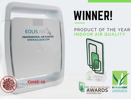 Eolisair Won the Product of the Year – Indoor Air Quality at the 2020 MENA Green Building Awards