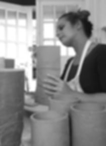 Katie Smith Ceramics Working at her Studio. Proteus Creation Space Basingstoke