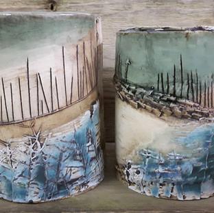 Katie Smith Ceramics Landscape Pots