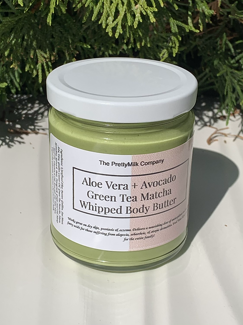 Aloe Vera + Avocado + Green Tea Matcha Whipped BodyButter - 9oz