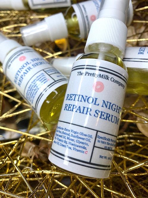 Retinol Night Repair Serum| Anti-Aging - 2oz