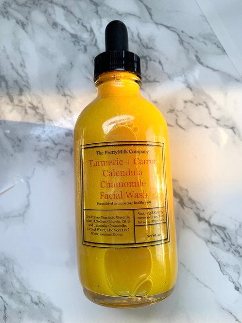 Turmeric + Carrot + Calendula +Chamomile Gentle Facial Wash - 4oz