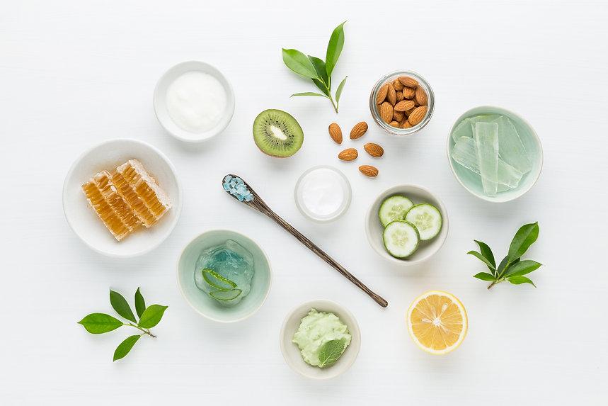 Herbal dermatology cosmetic hygienic cream for beauty and skincare product. honey, lemon, ...on..jpg
