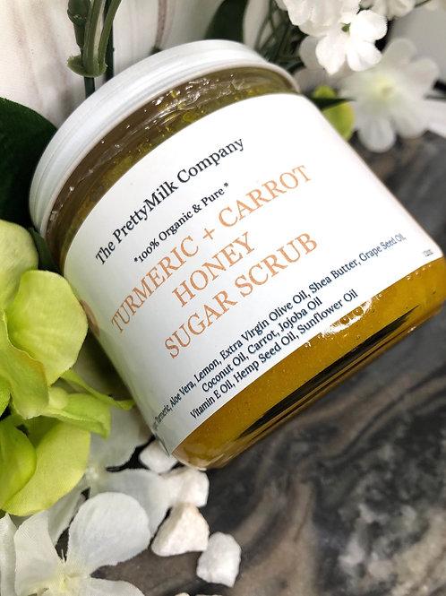 100% Organic Turmeric + Carrot Sugar Scrub - 12oz