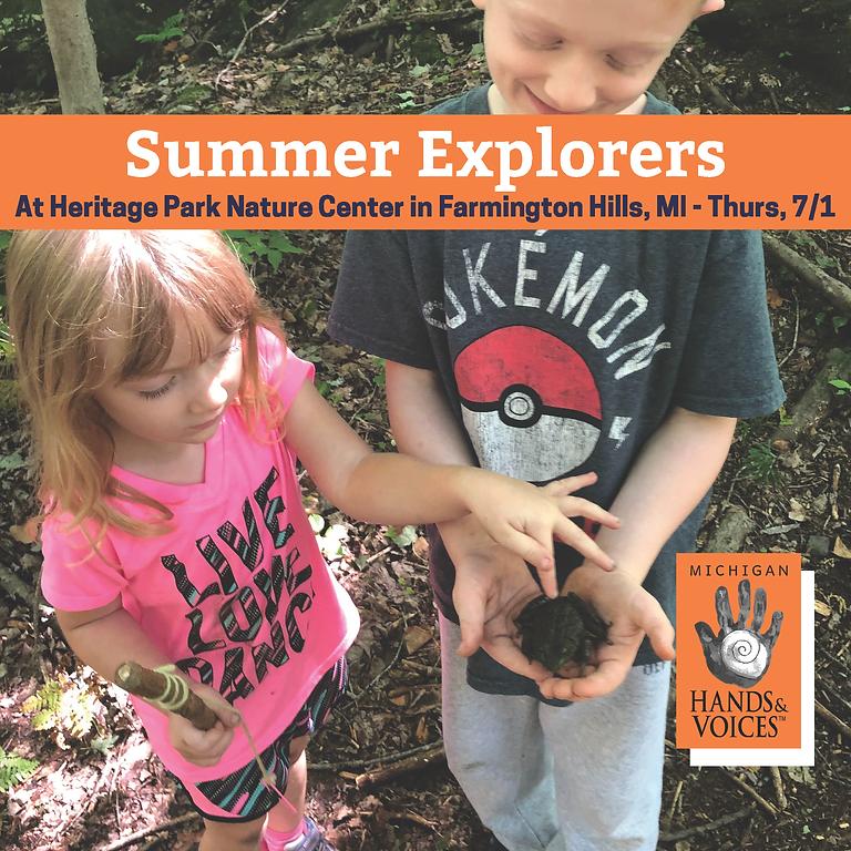 Summer Explorers in Farmington Hills