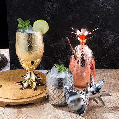 550ML Pineapple Cocktail Cup Portable Pineapple Cocktail Mug