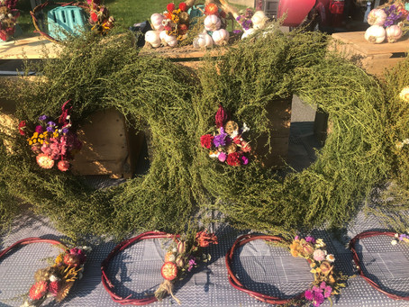 Cranberries, honey, and wreaths available for pickup!