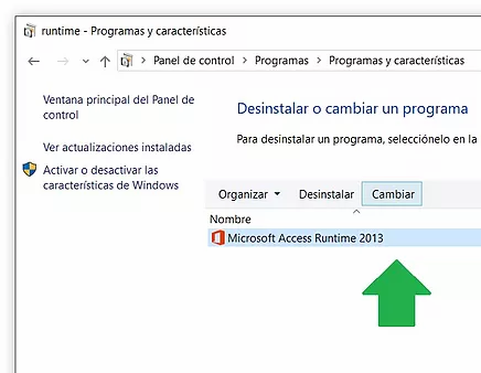 Reparacion de Access Runtime