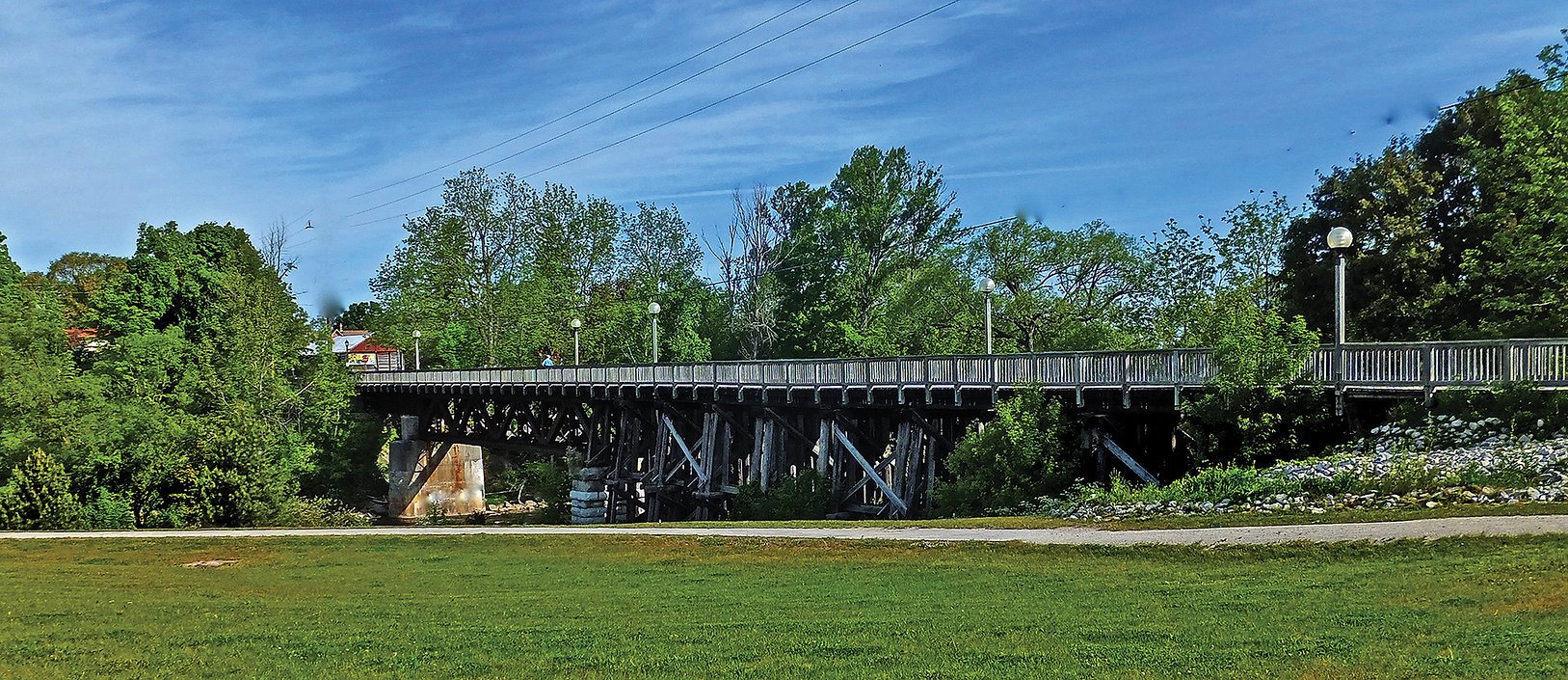 Thornbury trestle bridge