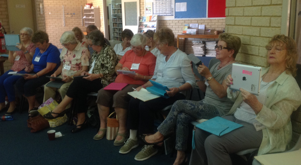 Switched on Seniors with their iPads