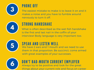 Infographic: Top Tips for Interview Success