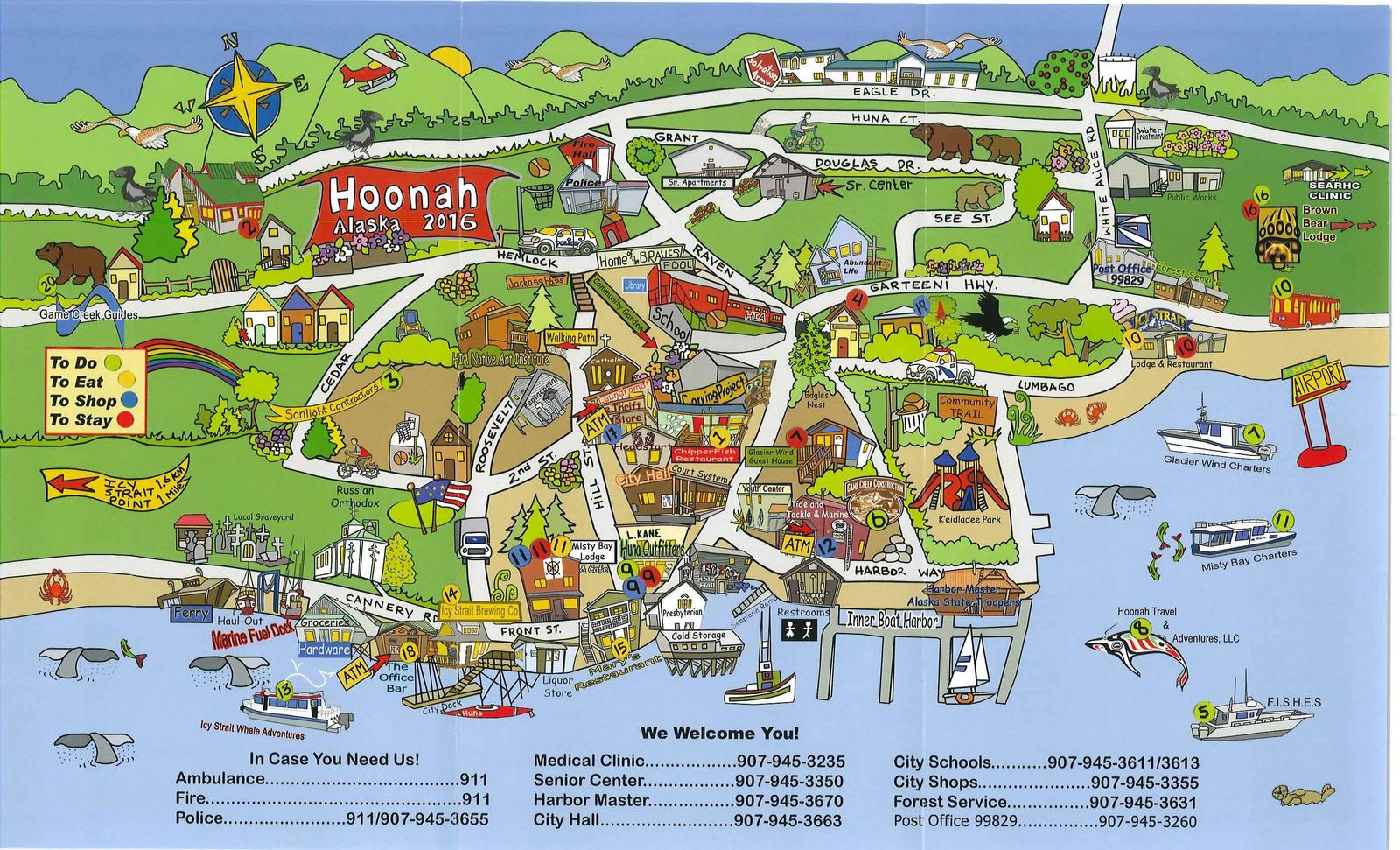 Huna Alaska Map.Visitors City Of Hoonah