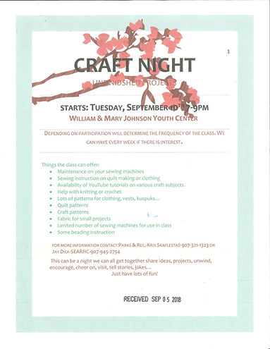 CRAFT NIGHT TUESDAYS SEPT 2018.jpg