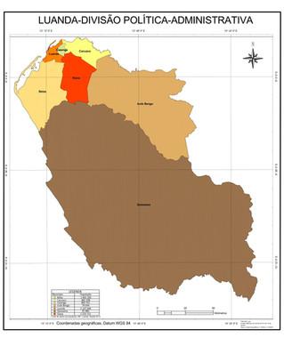 Luanda Divisão Política-Administrativa