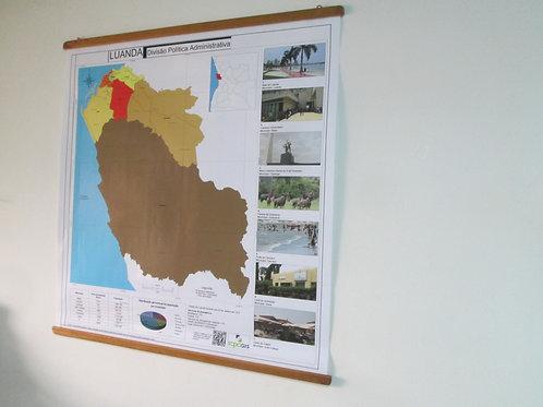 Mapa de Luanda - DPA (de parede)