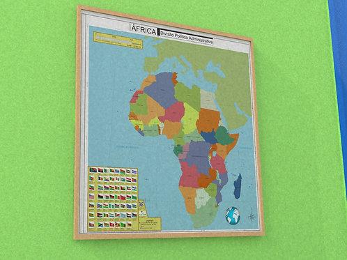 Mapa de África - DPA  (de parede)