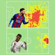 Como os mapas de calor dos jogadores são gerados no futebol?