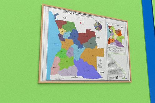 Mapa de Angola - DPA (de parede)