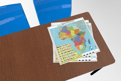 Mapa de África - DPA  (Quadradinho, de mesa)
