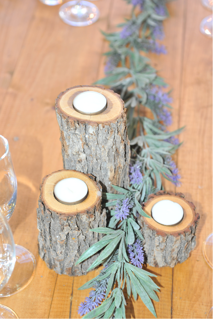 Little log tea light holders. $10