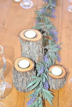 Little log tea light holders. $10
