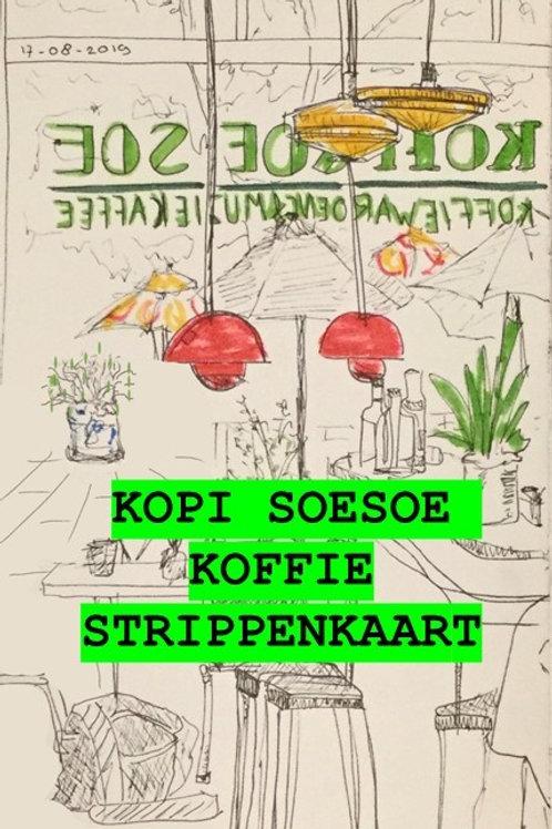 """De koffie """"Kopi Soesoe"""" strippenkaart"""