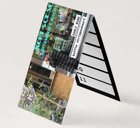 """""""Early bird"""" koffie strippenkaart"""