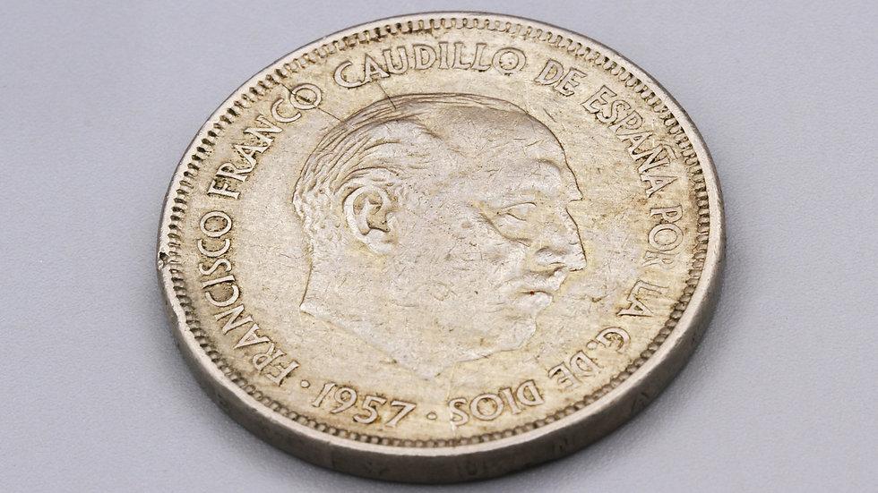 1957 Spain Coin Francisco Franco