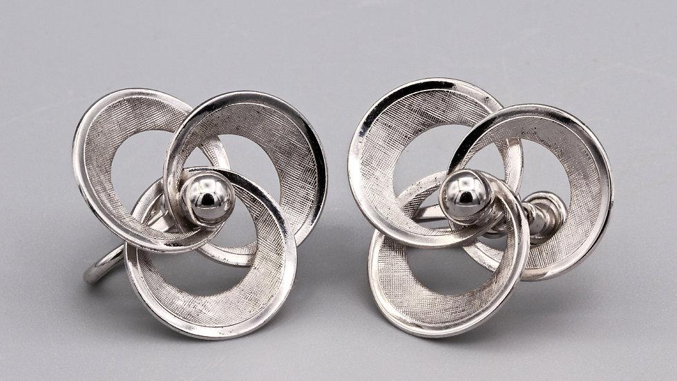 RARE Signed A&Z Sterling Flower Earrings