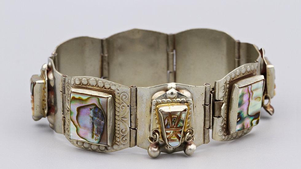 Abalone Shell Panel Link Bracelet