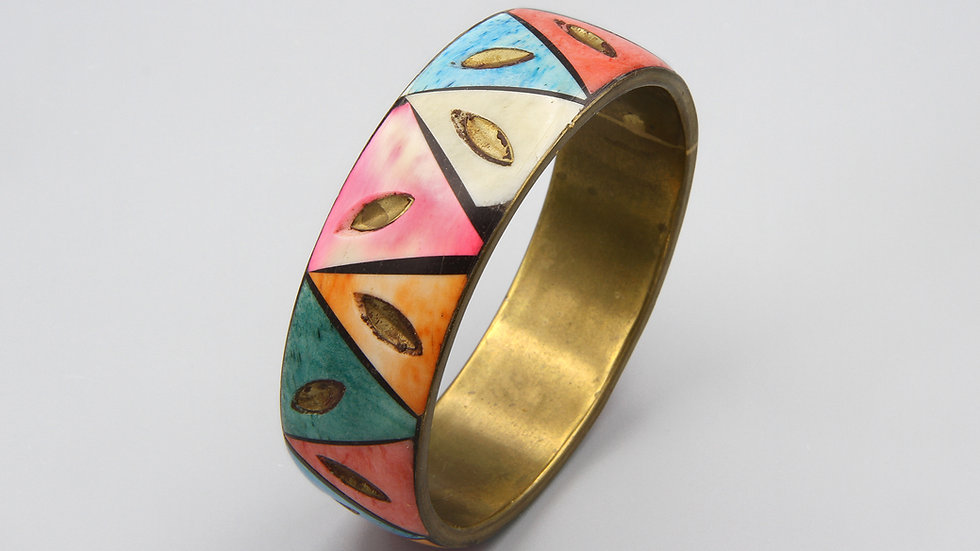 Colorful Dyed bone Cuff Bracelet
