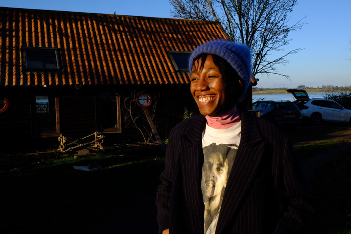 Chisara Agor outside The Boat House Ipswich
