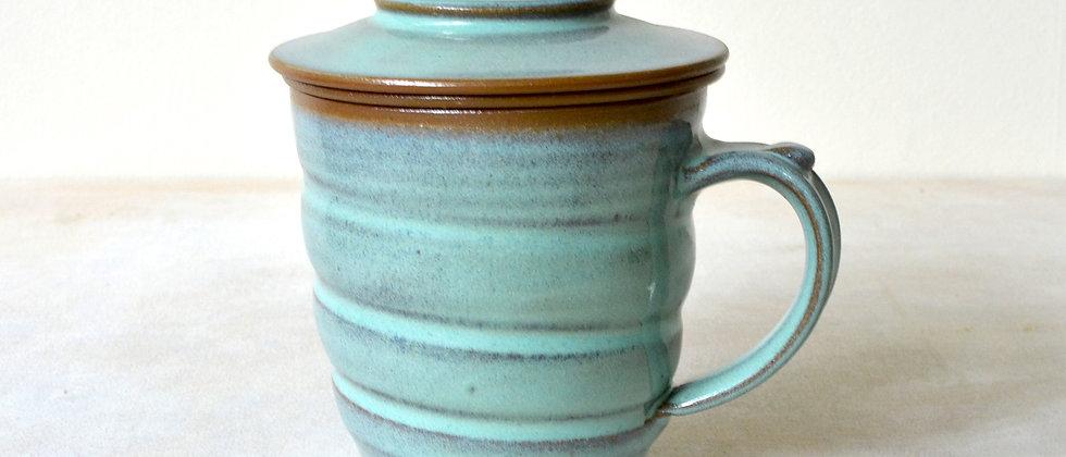 Tea Infuser Mug Set (Rustic Mint)