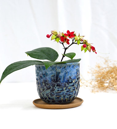 Vintage Blue Planter