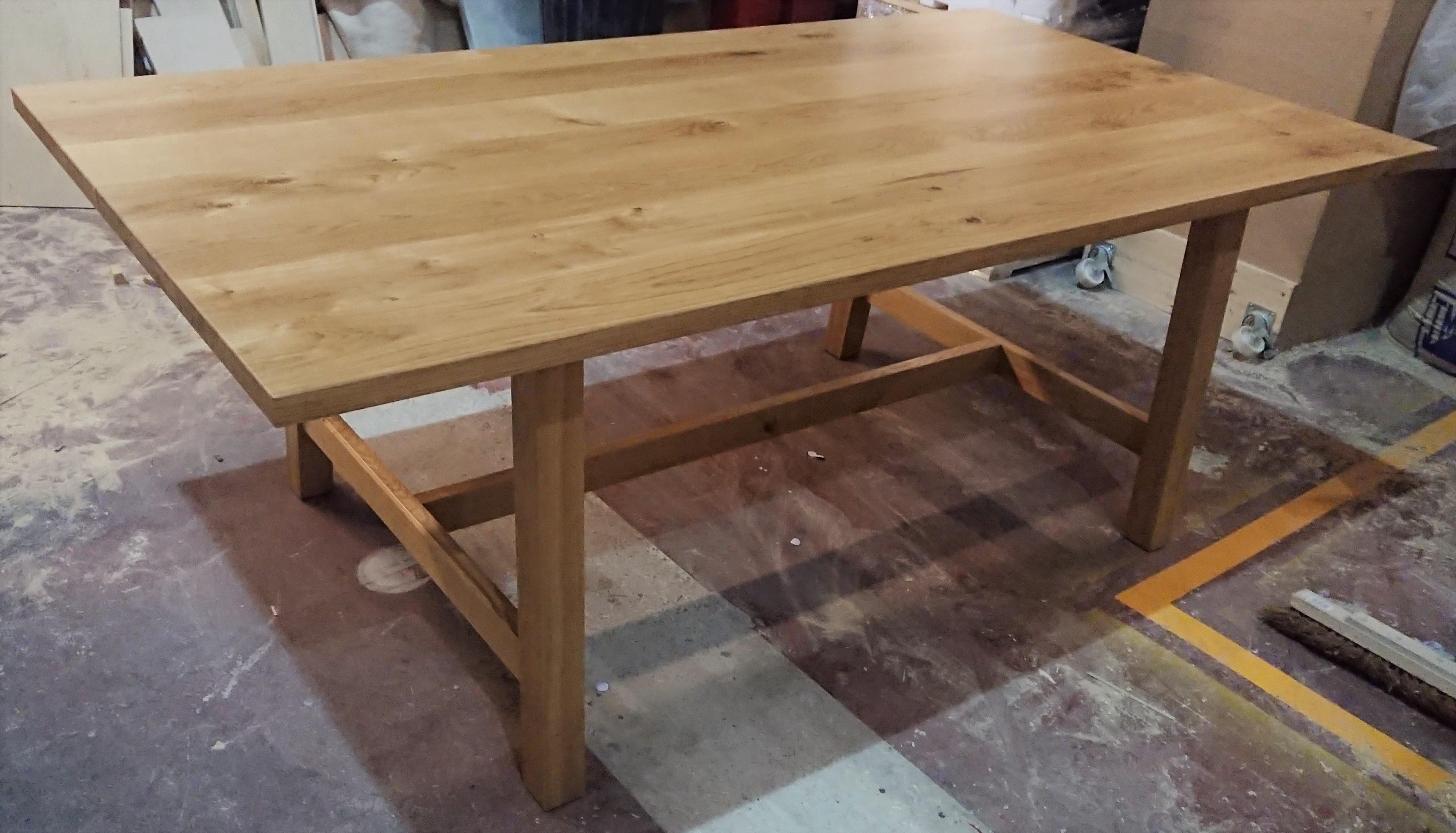 Scandinavian style oak dining table