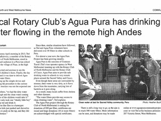Agua Pura featured in the North & West Melbourne News