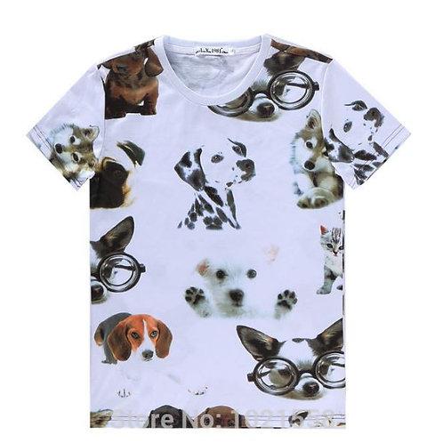 Honden print t-shirt