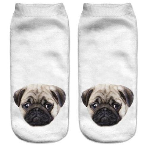 Mopshond print sokken