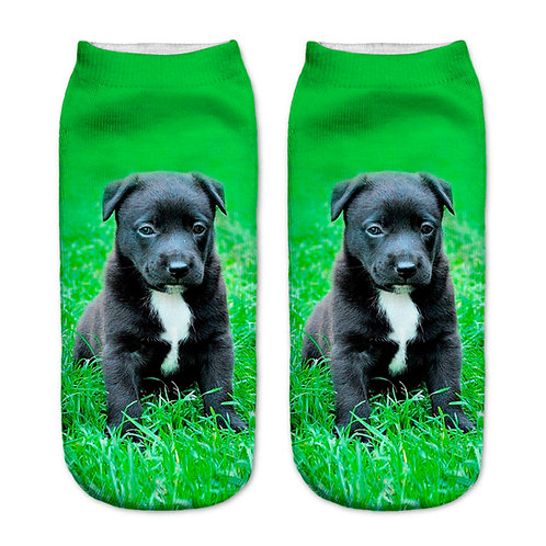Stafford puppy print sokken
