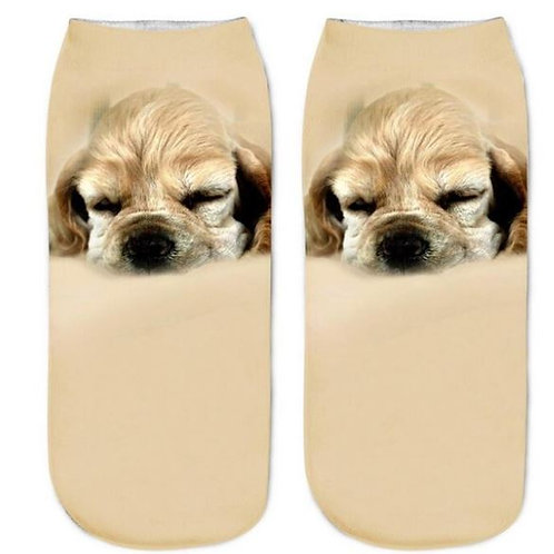 Amerikaanse cocker spaniël puppy print sokken